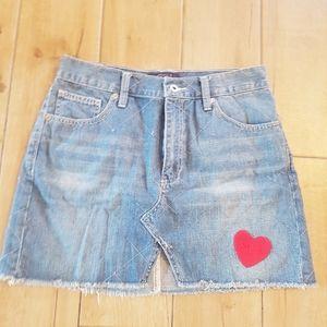 Lucky Brand denim skirt.